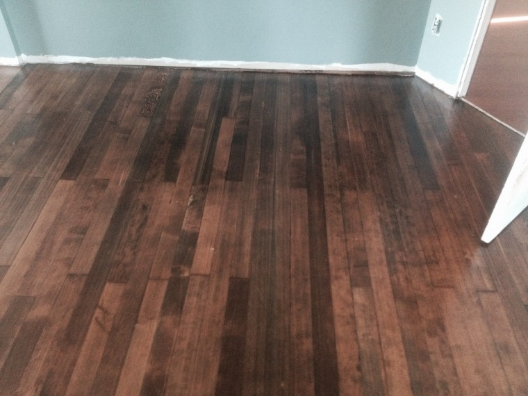 Stained Fir Floor
